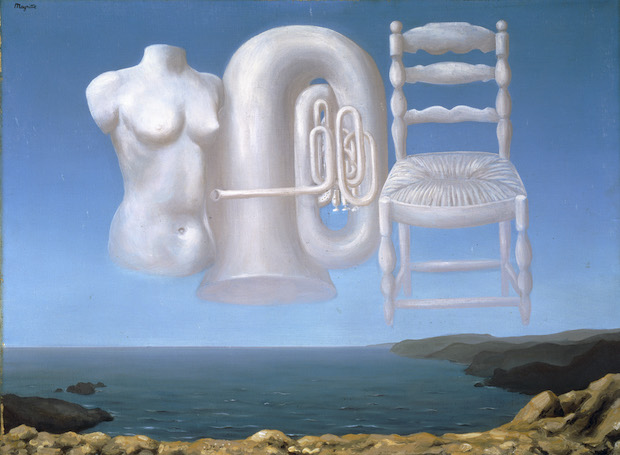 René Magritte, Le temps menaçant (Menacing Times), 1929. National Galleries of Scotland, Edinburgh, Banque d'Images, ADAGP / Art Resource, NY, Artwork © 2020 Artists Rights Society (ARS), New York / Pro Litteris, Zurich