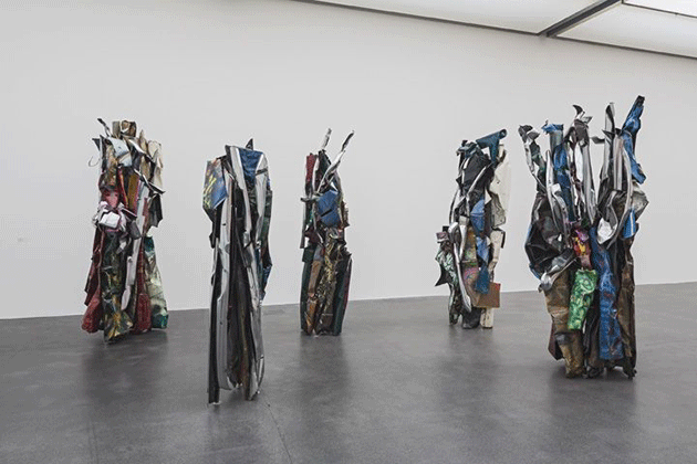John Chamberlain, Straits of Night, 1986. Collection of AXA Winterthur Versicherungen Kunstsammlung, Artwork © 2020 John Chamberlain / Artists Rights Society (ARS), New York