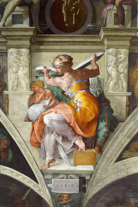 Michelangelo, Libyan Sibyles, circa 1511. Sistine Chapel, Vatican.