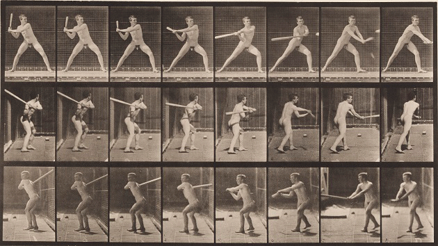 Eadweard Muybridge, Baseball Batting (Plate 276) from Animal Locomotion, 1887. Addison Gallery of American Art, Phillips Academy, Andover / Art Resource, NY