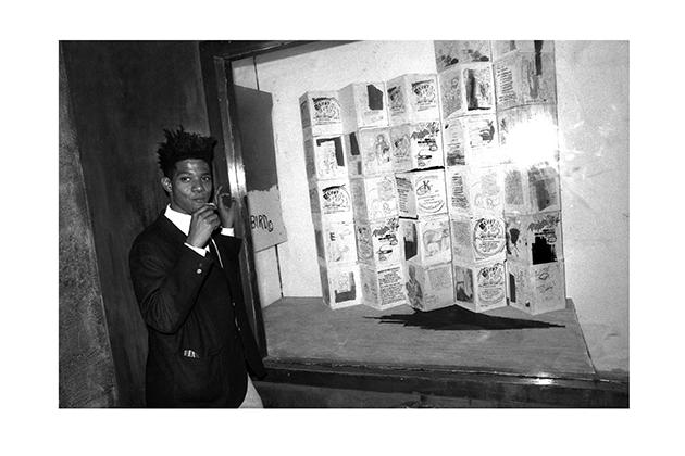 Jean-Michel Basquiat in front of his window