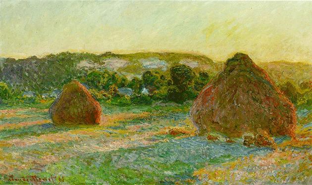 Claude Monet, Wheatstacks (End of Summer), 1890–91, Art Institute of Chicago