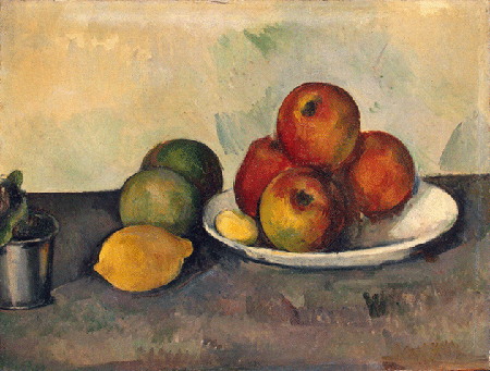 Paul Cézanne, Still life with Apples, ca. 1890, oil on canvas, State Hermitage Museum, St. Petersburg. Image: Bridgeman Images.