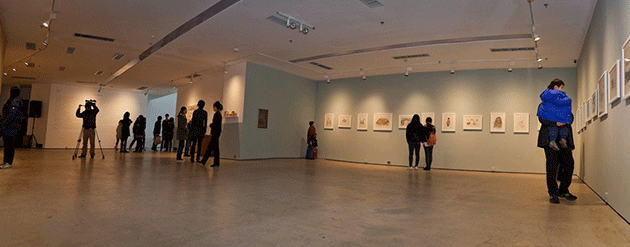 """Exhibition view of """"With You, I Will Never Feel Lonely"""" at Today Art Museum, Beijing in 2012"""