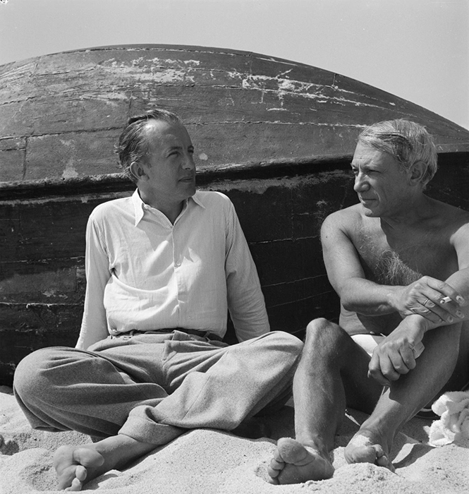 Pablo Picasso and Paul Eluard