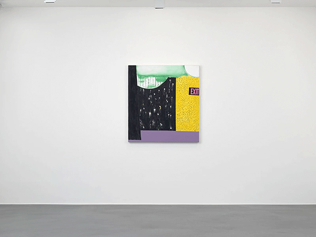 Installation view of London Paintings at Simon Lee Gallery, London in 2015