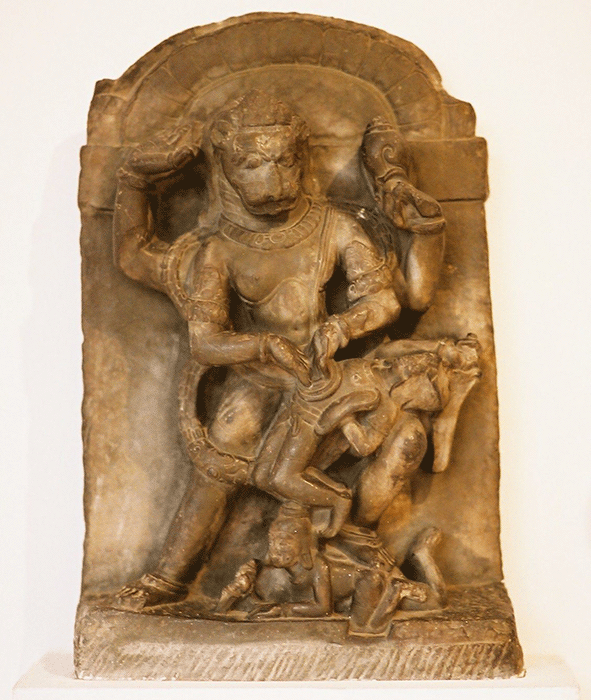 Narasimha statue, 8th century A.D., Eastern India, © National Museum, New Delhi