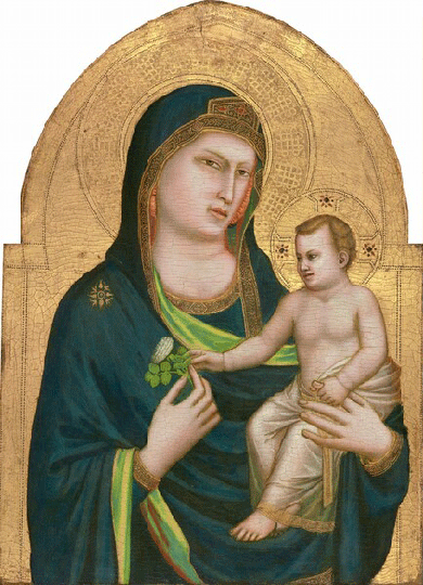 Giotto di Bondone, Madonna with the Child, circa 1320. Collection of the National Gallery of Art, Washington, D.C.