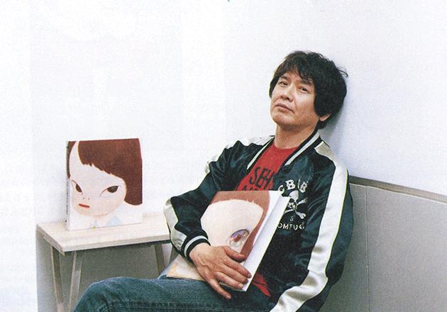 Yoshitomo Nara with the present work on the cover of his 2011 catalogue raisonné