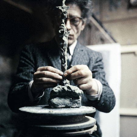 Alberto Giacometti at his studio in Paris, France 1962 © The Estate of Alberto Giacometti (Fondation Giacometti, Paris and ADAGP, Paris), licensed in the UK by ACS and DACS, London 2020. Image: Wolfgang Kuhn/United Archives via Getty Images.