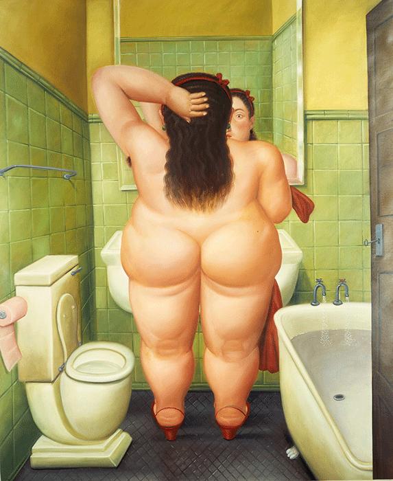Fernando Botero, The Bath, 1989