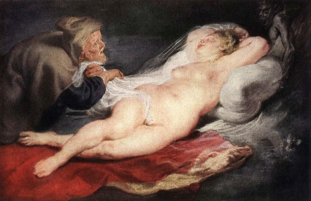 Peter Paul Rubens, The Hermit and the Sleeping Angelica, 1626-28