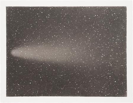 Vija Clemins, Untitled #13 (Comet), 1996, charcoal on paper, Museum of Modern Art, New York. © 2020 Vija Celmins, courtesy of Matthew Marks Gallery. Image: Image: 2020, The Museum of Modern Art, New York/Scala, Florence.