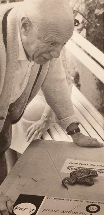 Pablo Picasso and a toad