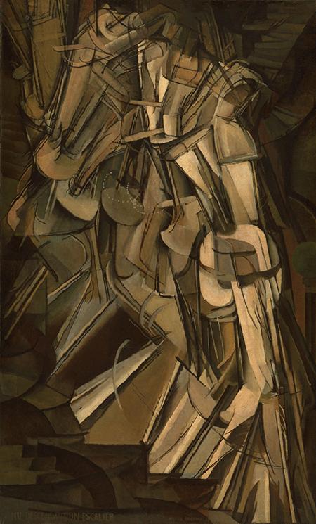 Marcel Duchamp, Nude Descending a Staircase (No.2), 1912, oil on canvas, Philadelphia Museum of Art, Pennsylvania. © Association Marcel Duchamp / ADAGP, Paris and DACS, London 2020. Image: The Louise and Walter Arensberg Collection, 1950 / Bridgeman Images.