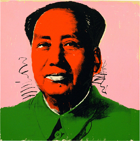 Andy Warhol, Mao Tse-Tung, 1972, screenprint, Museum of Modern Art, New York. © 2020 The Andy Warhol Foundation for the Visual Arts, Inc. / Licensed by DACS, London. Image:  2020, The Museum of Modern Art, New York/Scala, Florence.