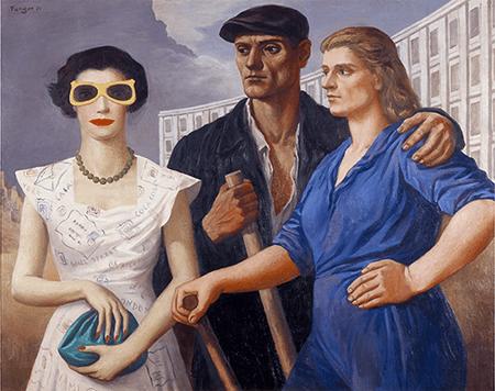 Wojciech Fangor, Postacie, 1950, oil on canvas, Museum Sztuki, ?ód?. Image: Muzeum Sztuki, ?ód? and reproduced with permission of The Fangor Estate.