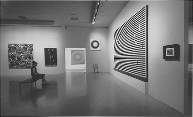 Installation view of Number 17 in The Responsive Eye, Museum of Modern Art, New York, 23 February - 25 April 1965. Image: 2020, The Museum of Modern Art, New York/Scala, Florence. Reproduced with the permission of The Fangor Estate.