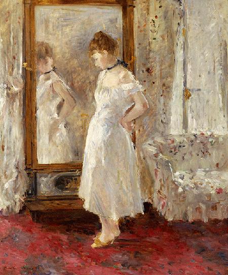 Berthe Morisot, The Psyche Mirror, 1876, oil on canvas, Museo Thyssen-Bornemisza, Madrid. Image: Bridgeman Images.