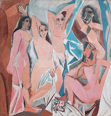 Pablo Picasso, Les Demoiselles d'Avignon, 1907, oil on canvas, Museum of Modern Art, New York. © Succession Picasso/DACS, London 2020. Image: Bridgeman Images.