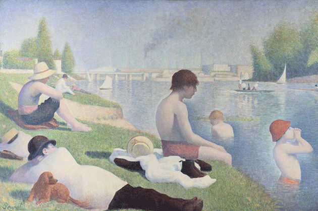 Georges Seurat, Bathers at Asnières, 1884. National Gallery, London, Image credit © National Gallery, London / Art Resource, NY