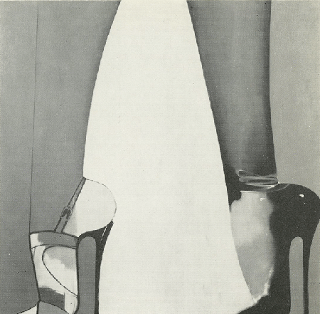 The present work photographed in an unfinished state, illustrated in the catalogue published on the occasion of the Allen Jones 27 June – 15 July 1967 at Arthur Tooth & Sons Ltd, London.