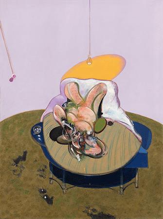 Francis Bacon, Lying Figure, 1969 (CR-69-03). Fondation Beyeler, Riehen / Basel, Artwork © 2020 Estate of Francis Bacon / Artists Rights Society (ARS), New York / DACS, London
