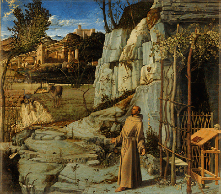 Giovanni Bellini, St. Francis in the Desert, ca. 1476-78, tempera and oil on wood, The Frick Collection, New York. Image: Fine Art Images/Heritage Images/Scala, Florence.