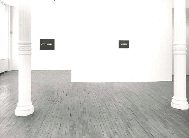 The present work exhibited during New York, Sperone Westwater Gallery, On Kawara, 3 – 24 March 1990
