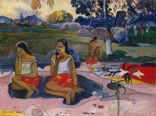 Paul Gauguin, Tropical Landscape, Martinique, 1887, oil on canvas, Staatsgalerie Moderner Kunst, Munich. Image: Bridegman Images.