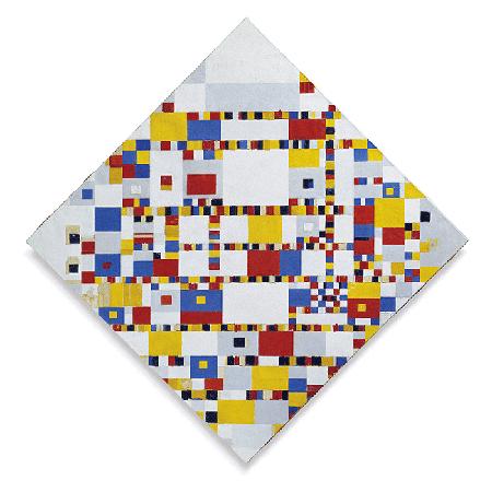 Piet Mondrian, Victory Boogie Woogie, 1944, oil on canvas, Haags Gemeentemuseum, The Hague. Image: Bridgeman Images.