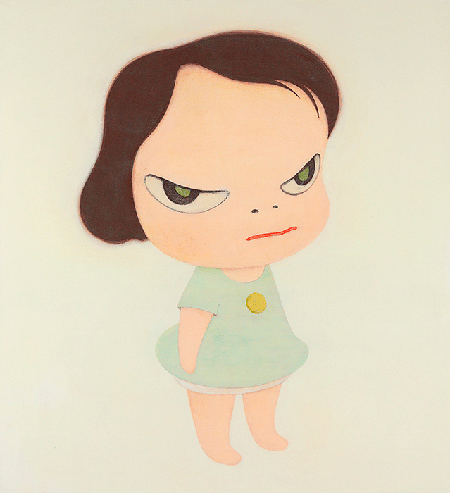 Yoshimoto Nara, Frog Girl, 1998, oil on canvas, Private Collection. Image: Christie's Images, London/Scala, Florence.