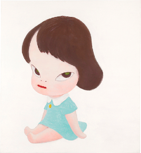Yoshitomo Nara, Hot House Doll (In the White Room III), 1995, acrylic on canvas, Private Collection. Image: Christie's Images, London/Scala, Florence.