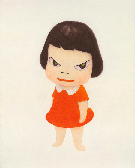 Yoshitomo Nara, Missing in Action, 1999, acrylic on canvas, Private Collection. Image: Christie's Images, London/Scala, Florence.