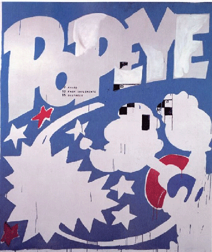 Andy Warhol, Popeye, 1961. Artwork © 2019 The Andy Warhol Foundation for the Visual Arts, Inc. / Licensed by Artists Rights Society (ARS), New York