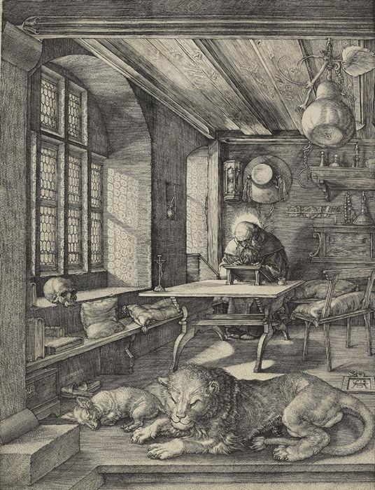 Albrecht Dürer, Saint Jerome in His Study, 1514