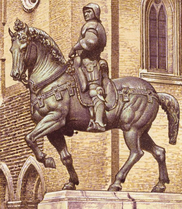 Patrick Nicolle, Statue of Bartolommeo Colleoni by Andrea Verrocchio, 1977