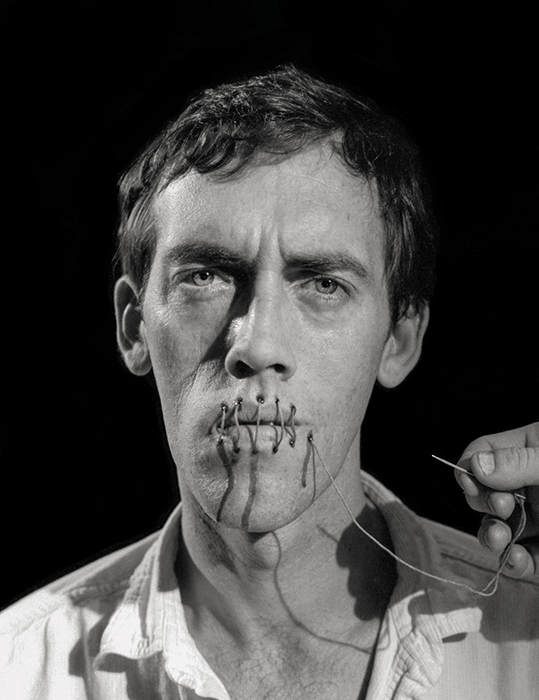 David Wojnarowicz image for the Rosa von Praunheim film Silence=Death, 1989. Photographed by Andreas Sterzing. Courtesy © Andreas Sterzing.