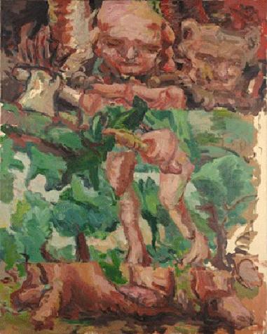 Georg Baselitz, Curly Head (Lockenkopf), 1967. Harvard Art Museum, Cambridge, Artwork © 2020 Georg Baselitz
