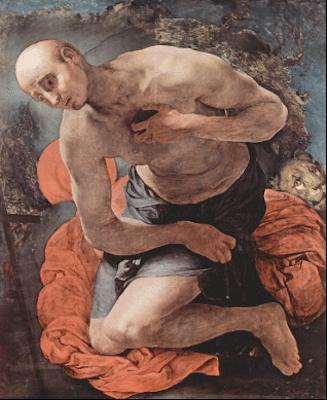 Jacopo Pontormo, Saint Jerome Penitent, circa 1525. Niedersächsisches Landesmuseum, Hanover