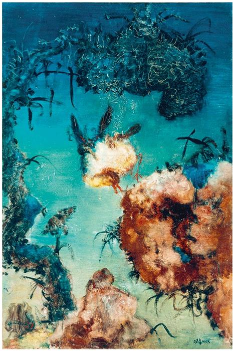 Zhou Chunya, Chinese Landscape, 1993