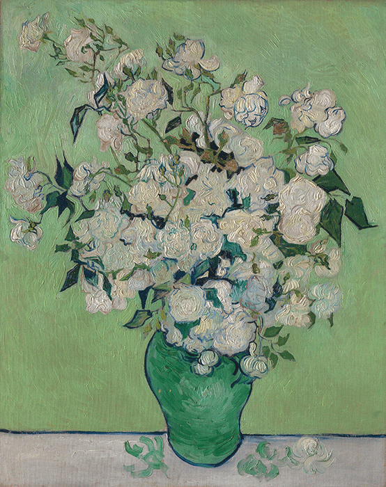 Vincent van Gogh, Roses, 1890, Collection of the Metropolitan Museum, New York.