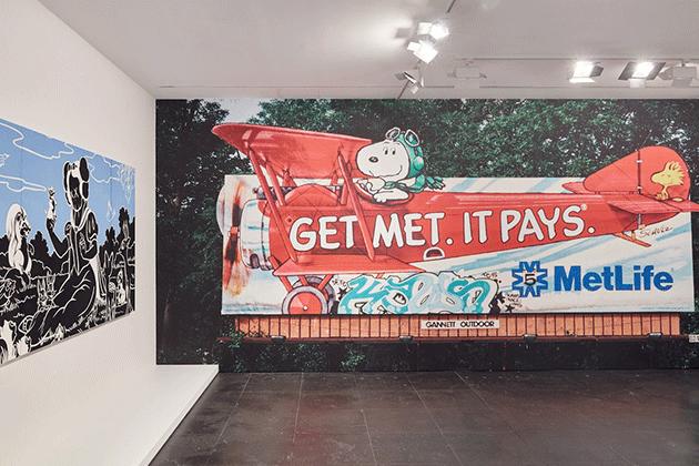 KAWS' signature graffiti tag on a MetLife billboard, 1995.