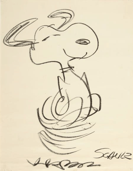 Charles M. Schulz drawing of Snoopy