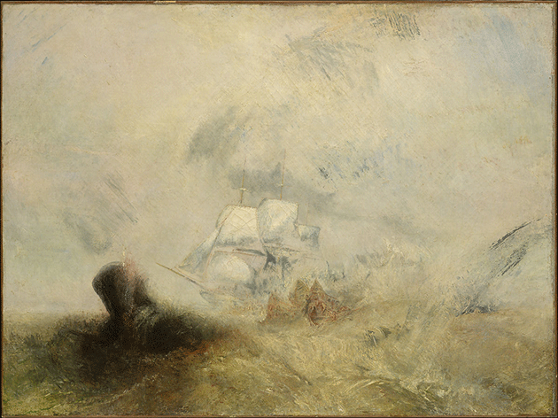 Joseph Mallord William Turner, Whalers, circa 1845. Collection of The Metropolitan Museum of Art, New York