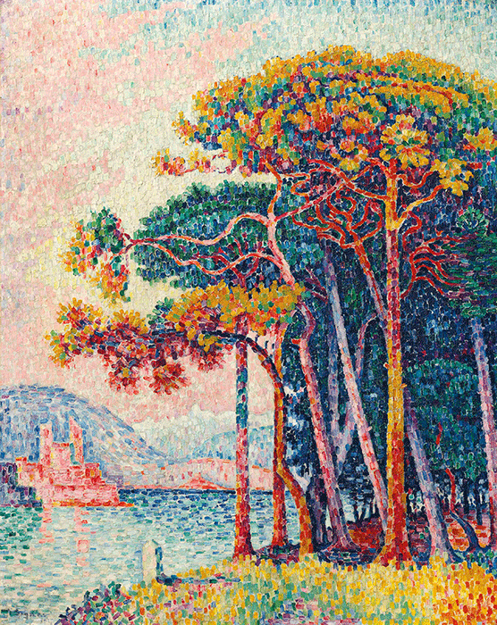 Paul Signac, Antibes (la pinède), 1917. Formerly in the Collection of Peggy and David Rockefeller, New York.