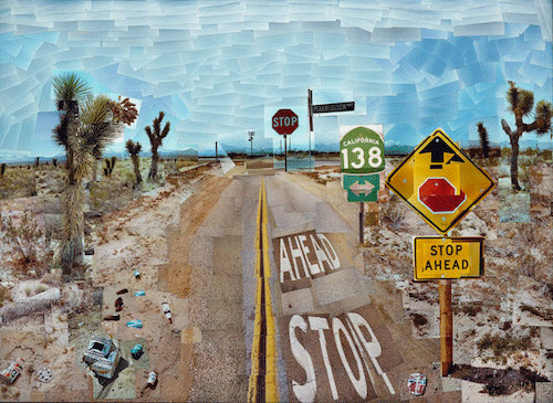 David Hockney, Pearblossom Hwy., 11 - 18th April 1986, #1, 1986. The J. Paul Getty Museum, Los Angeles