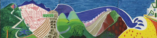 David Hockney, The Road to Malibu, 1988. Private Collection