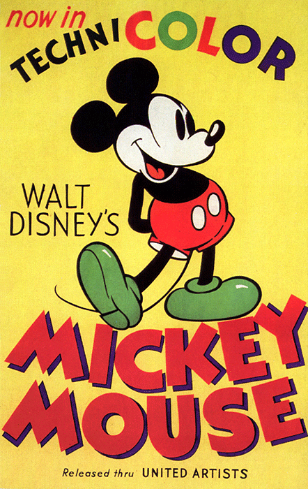 Poster for Walt Disney's Mickey Mouse, 1935. Image: Everett Collection/Bridgeman Images