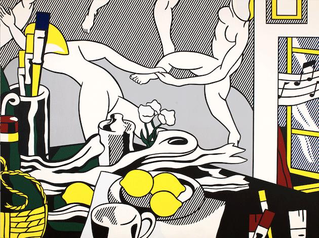 """Roy Lichtenstein, Artist's Studio """"The Dance, 1974. Museum of Modern Art, New York, Artwork © Estate of Roy Lichtenstein"""